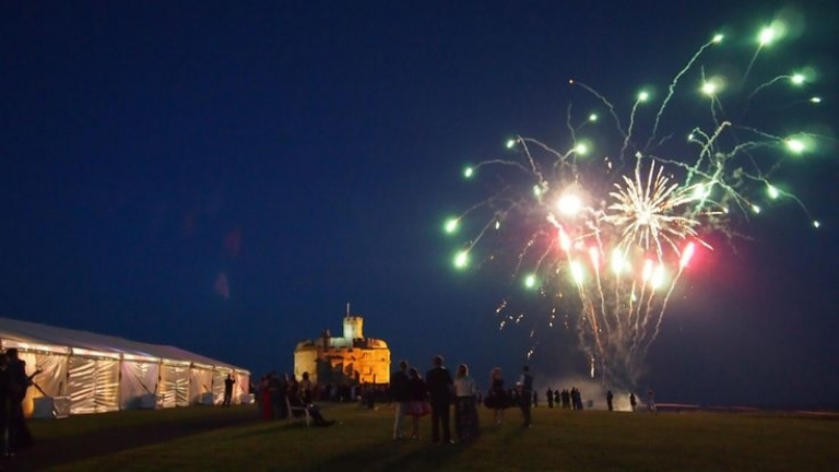 Have your Absolute Canvas wedding marquee at Pendennis Castle in Cornwall.
