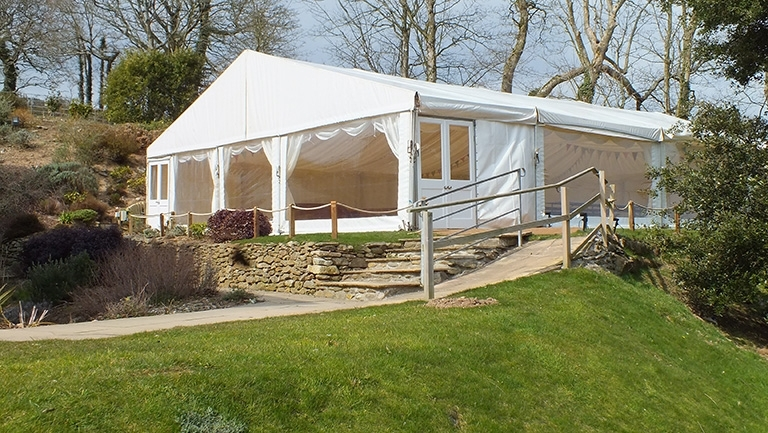 Have your Absolute Canvas wedding marquee at The Vean in Cornwall.